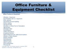 Office Chair Ergonomic Checklist Essential Shopping List For Starting A Office For A Small