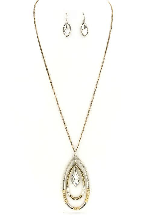 Teardrop Necklace Set teardrop wire wrap pendant necklace set necklaces