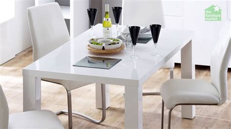 6 seater dining table white high gloss rectangular 6 seater dining table