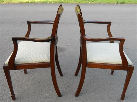 set of eight mahogany antique style dining chairs sold