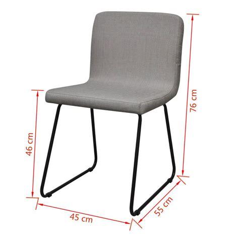 esszimmerstühle kaufen 6 hellgraue esszimmerst 252 hle stoffbezug mit eisenbeinen