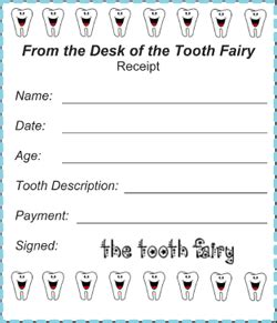 printable tooth fairy receipt 4 per page