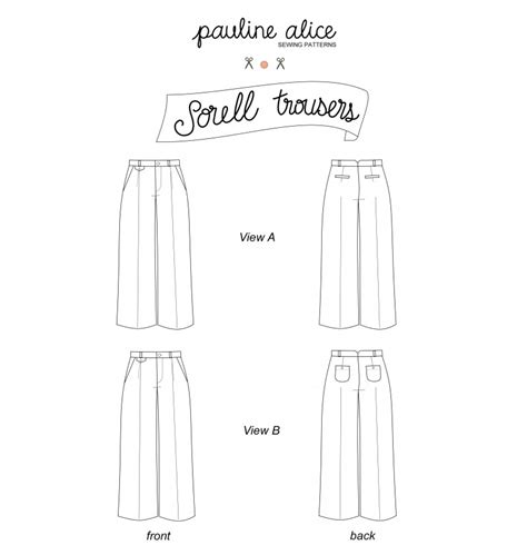 trouser pattern making pdf sorell trousers pdf pattern paulinealice