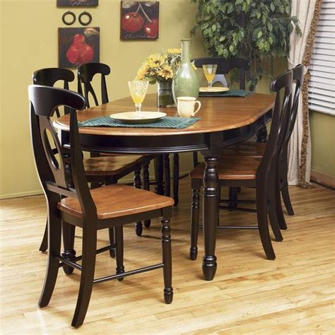 Oval Kitchen Table Sets by Oval Two Toned Kitchen Table Isles Oval Leg Table
