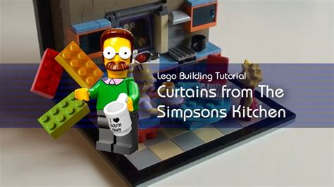 tutorial lego gourmet kitchen cc lego tutorial building the window curtains from the