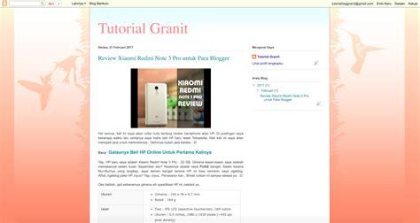 membuat blog jadi keren ini cara mudah bikin tilan blogmu jadi keren granit s
