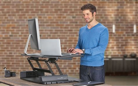work standing up desk the office fad stand up while you work but
