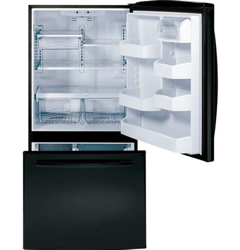 Refrigerator Bottom Freezer Drawer by Gde23gghbb Ge Energy 23 2 Cu Ft Bottom Freezer