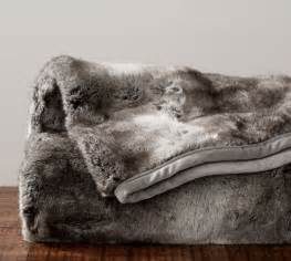 Faux Fur Throw Blanket Pottery Barn Faux Fur Throw Gray Ombre Pottery Barn