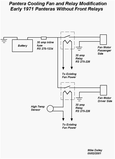 Cooling Fan Relay Modification
