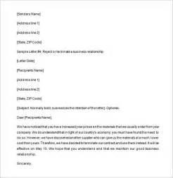 partnership letter template 9 partnership termination letter templates free sle