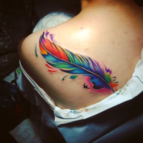 tattoo feather color color feather tattoo designs www pixshark com images