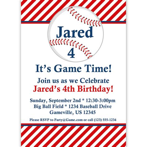 baseball invitation template 9 best images of free baseball printable invitation