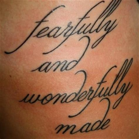 fearfully and wonderfully made tattoo 17 best images about next ideas on
