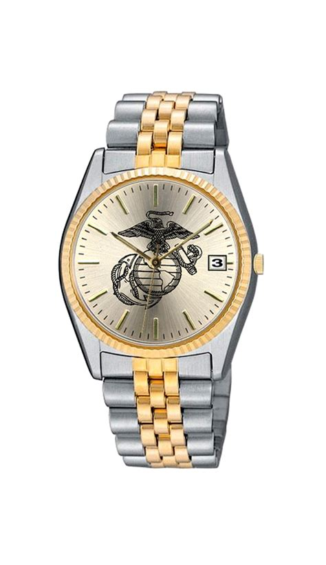 womens usmc with two tone stainless steel band