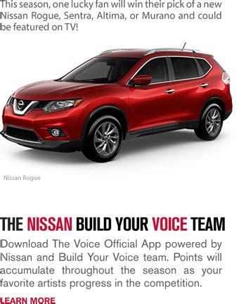 Nbc Facebook Giveaway - nbc nissans build your voice team win a nissan veh giveawayus com
