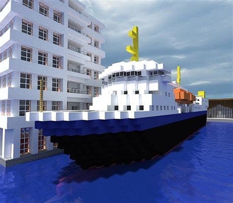 minecraft ferry boat m s gann norwegian ferry minecraft project