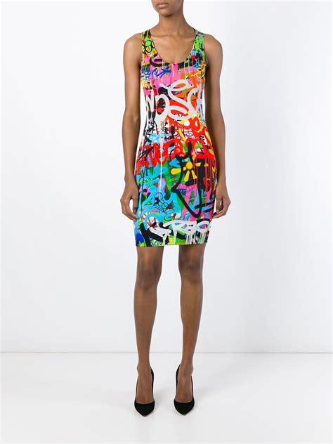 Mini Dress Moschino lyst moschino graffiti print mini dress