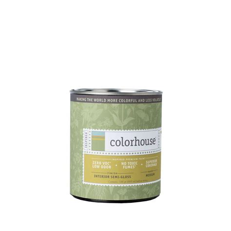 colorhouse 1 qt white base semi gloss interior paint 141339 the home depot