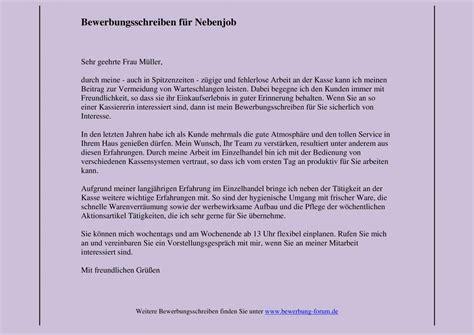 Anschreiben Empfangsmitarbeiterin Vorlage Bewerbung Nebenjob Sch 252 Ler Yournjwebmaster
