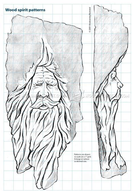 image result  wood spirit stencil wood carving art
