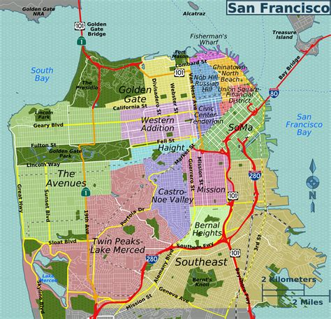 san francisco map by district file san francisco districts map png wikimedia commons