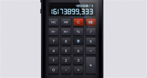 calculator ui ios psd calculator ui kit mobile apps pixeden