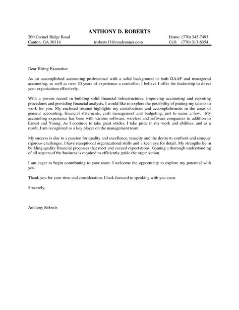 general cover letter format best template collection