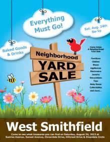 yard sale flyer behance adam sanders design princeton garage jpeg
