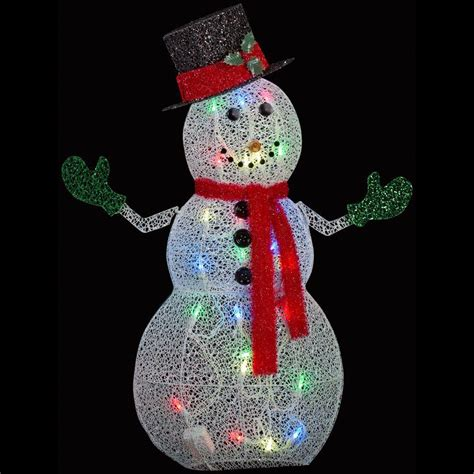 APPLights 50 in. Crystal Swirl Snowman Lighted Yard