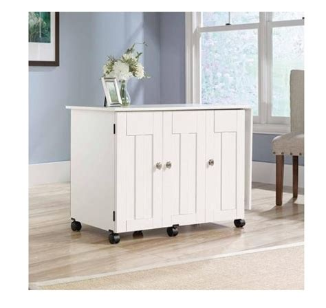 sauder sewing and craft table multiple finishes sewing machine table craft storage cabinet sauder desk tv