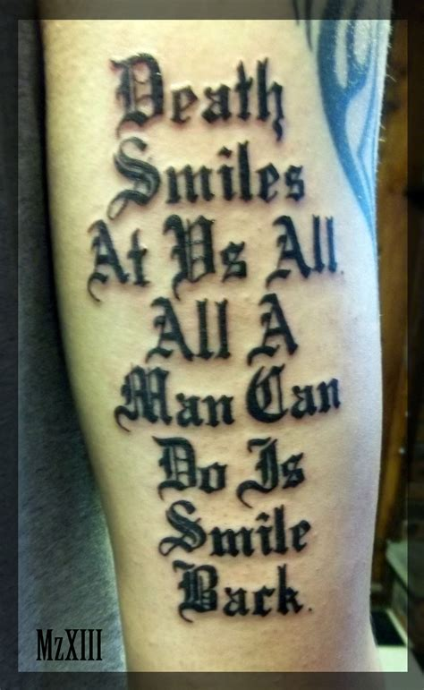 death memorial quotes tattoo
