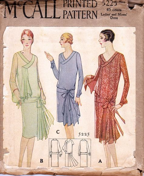 pattern for vintage dress vintage 1920s dress pattern mccall 5225 1920s dress