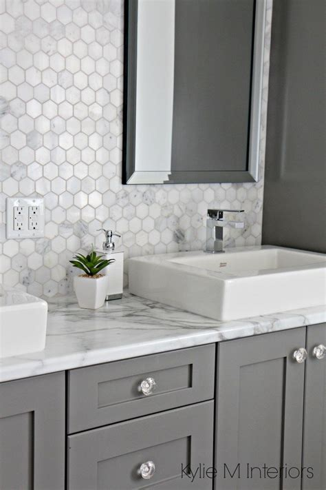 bathroom formica countertops a marble inspired ensuite bathroom budget friendly too