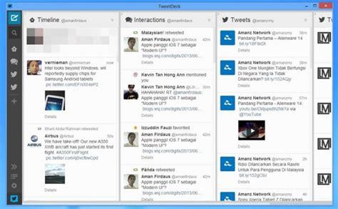 tweet deck for windows akan menamatkan sokongan aplikasi tweetdeck untuk