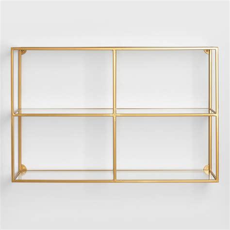 wall shelf adler glass wall shelf world market