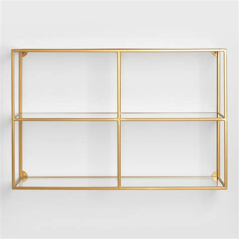 Adler Glass Wall Shelf   World Market