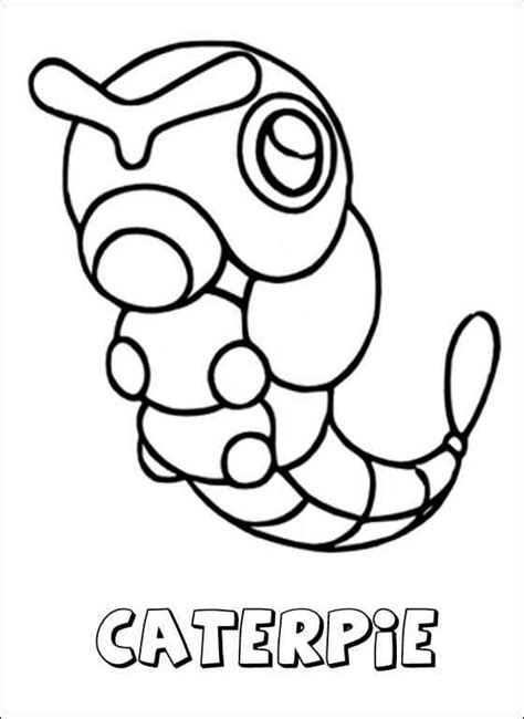 pokemon coloring pages caterpie pokemon 84 ausmalbilder