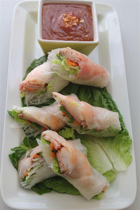 new year shrimp roll recipe pork and shrimp rolls with peanut sauce recipe