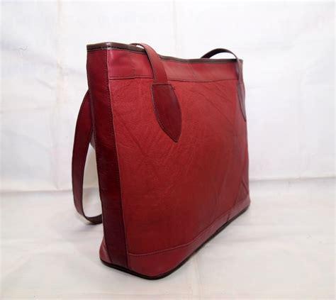 Shoulder Bag Wanita Kulit Sapi Asli Marun Tote Leather Polos Keren tas kulit wanita handbag vintage maroon kode produk