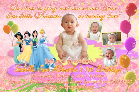 Best Home Improvement Websites invitation amp tarp izabella jane 1st birthday filipino
