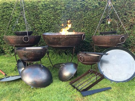 pit kadai kadai indian firepits carpets wood