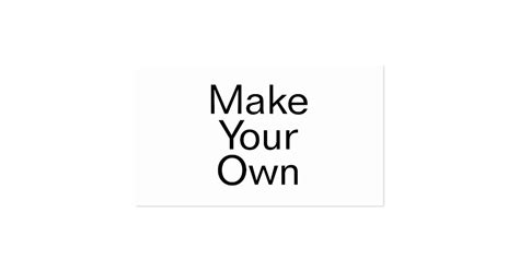 make my card make your own business card zazzle