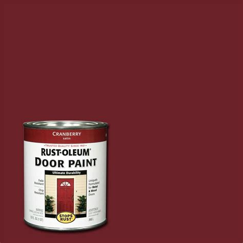 rust oleum stops rust 1 qt cranberry door paint 2 pack 238314 the home depot