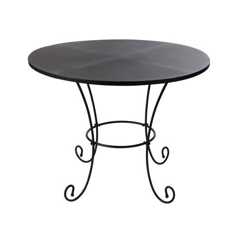 tavolo nero tavolo nero da giardino in metallo e ferro battuto d 100