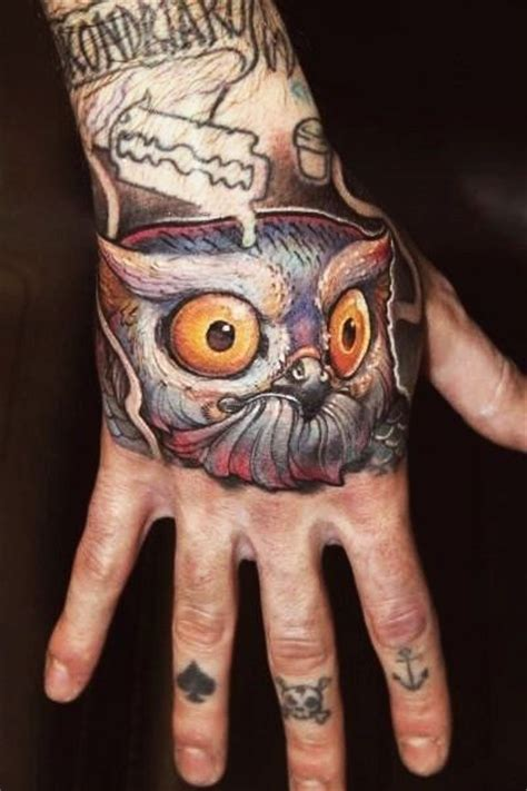 owl hand tattoo 56 amazing owl bird tattoos ideas