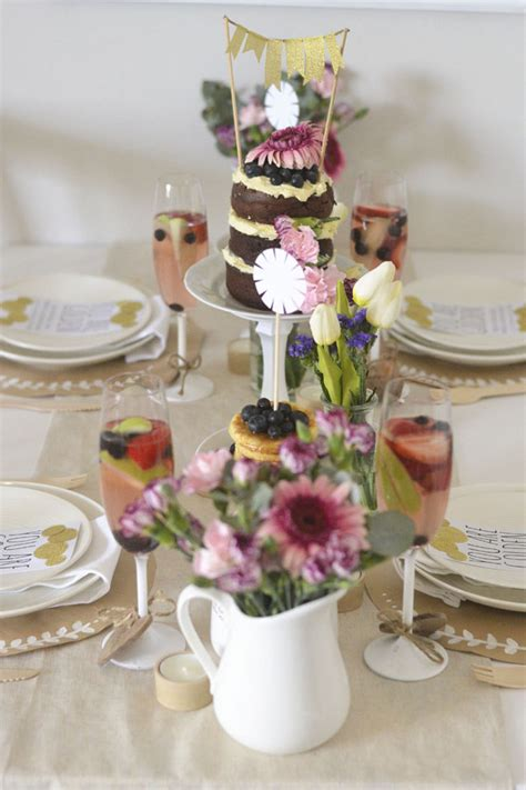 Intimate Bridal Shower Ideas by An Intimate Bridesmaid Brunch Trueblu