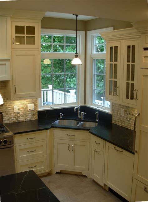 Corner Kitchen Cabinets Design Corner Sink Sinks And Corner Kitchen Sinks On
