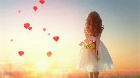 Romantic Girl With Flowers Wallpaper   Wallpaper Studio 10