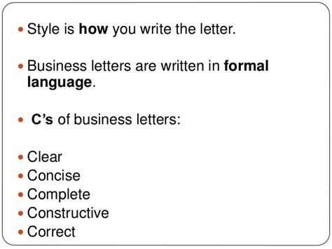 sle business letter writing business letters style 1586